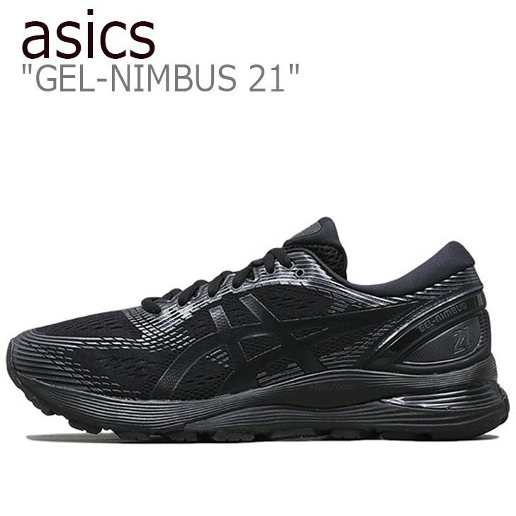 シューズ メンズ asics GEL-NIMBUS BLACK ゲルニンバス21 アシックス ブラック 1011A169-004 スニーカー 21