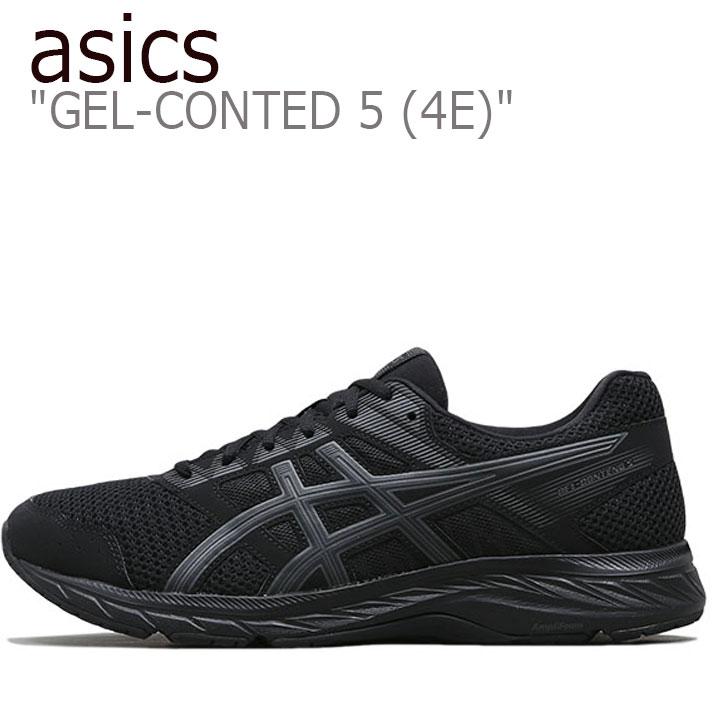 アシックス スニーカー asics メンズ GEL-CONTED 5 ゲルコンテンド5 BLACK ブラック DARK GREY ダークグレー 1011A252-002 シューズ