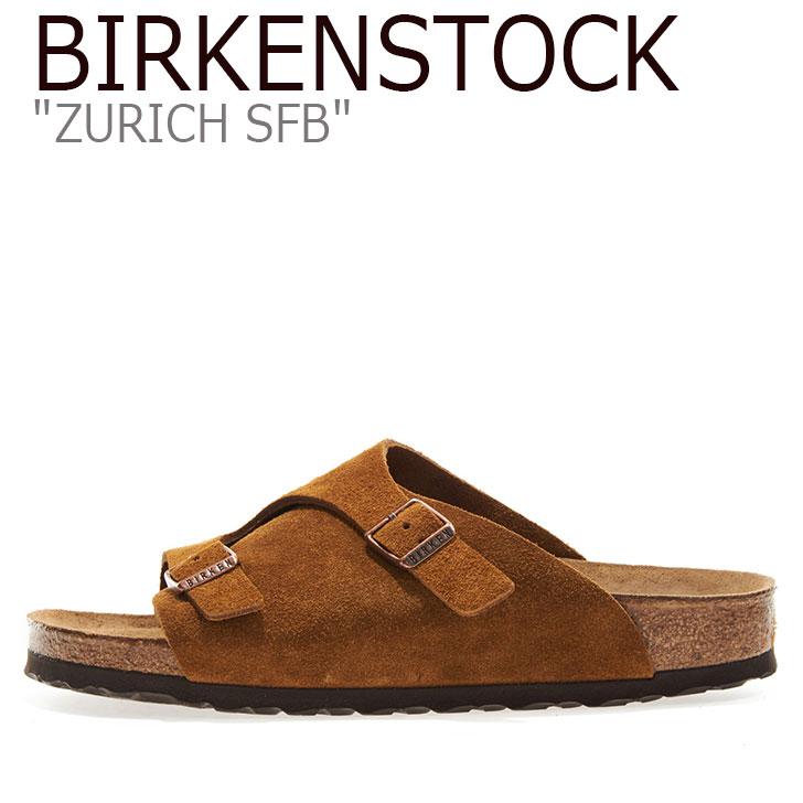 ビルケンシュトック サンダル BIRKENSTOCK メンズ Zurich SFB チューリッヒ ソフトフットベッド MINK ミンク 1009534 シューズ 【中古】未使用品