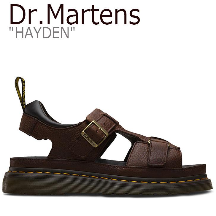 ドクターマーチン サンダル Dr.Martens メンズ レディース HAYDEN ハイデン BROWN ブラウン 24627201 シューズ 【中古】未使用品