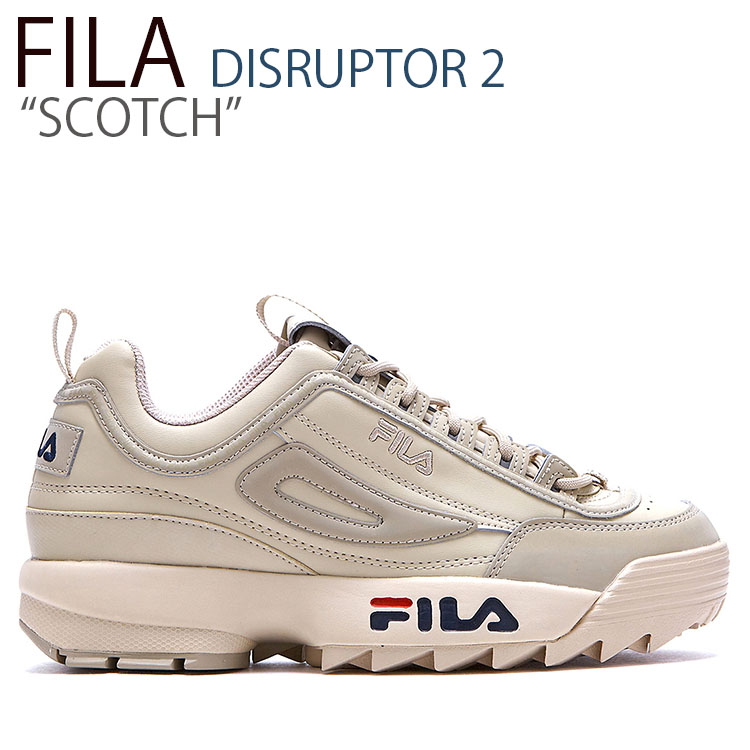 フィラ ディスラプター スニーカー FILA メンズ レディース DISRUPTOR 2 SCOTCH ディスラプター2 スコッチ IVORY アイボリー FLFLAA1X01 シューズ