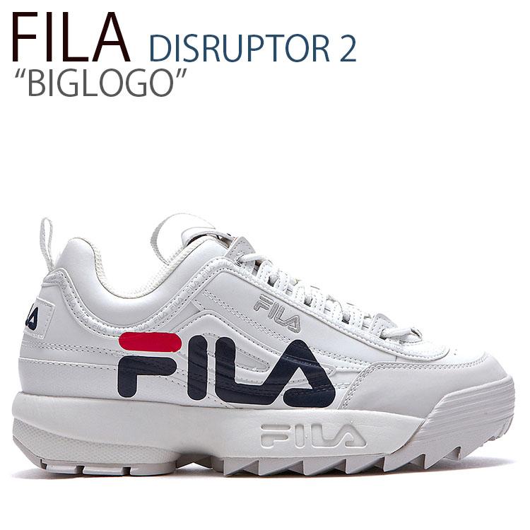 フィラ ディスラプター スニーカー FILA メンズ レディース DISRUPTOR 2 BIGLOGO ディスラプター2 ビッグロゴ WHITE ホワイト FLFLAA1X02 シューズ