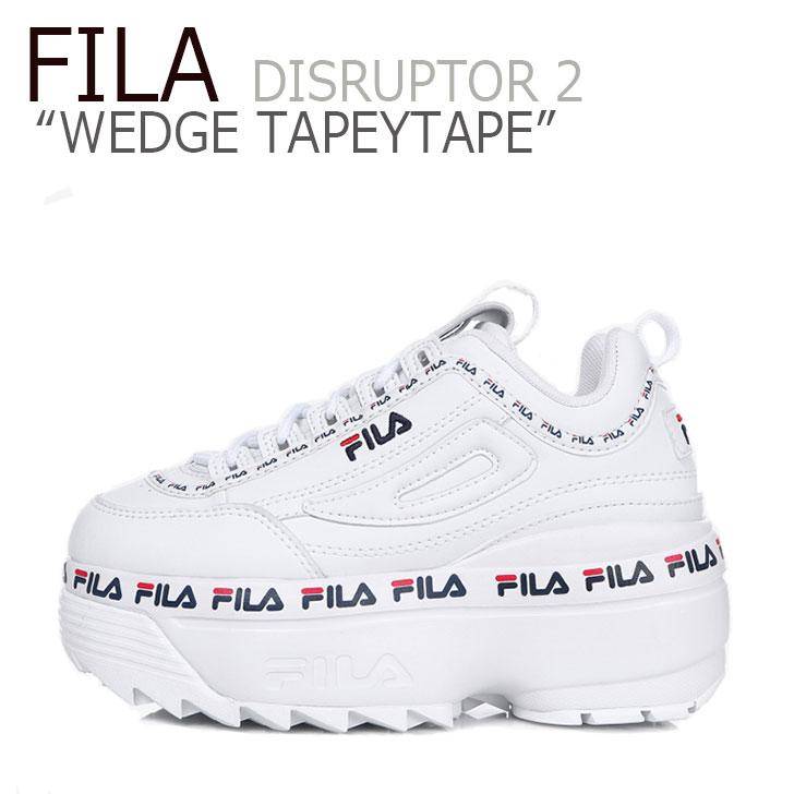 フィラ ディスラプター スニーカー FILA レディース DISRUPTOR 2 WEDGE TAPEYTAPE ディスラプター2 ウェッジ テーピーテープ WHITE ホワイト FS1HTB3091X シューズ