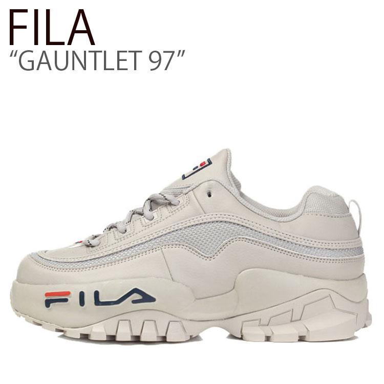 フィラ スニーカー FILA メンズ レディース GAUNTLET 97 ガントレット97 GRAY グレー FS1HTB3112X シューズ