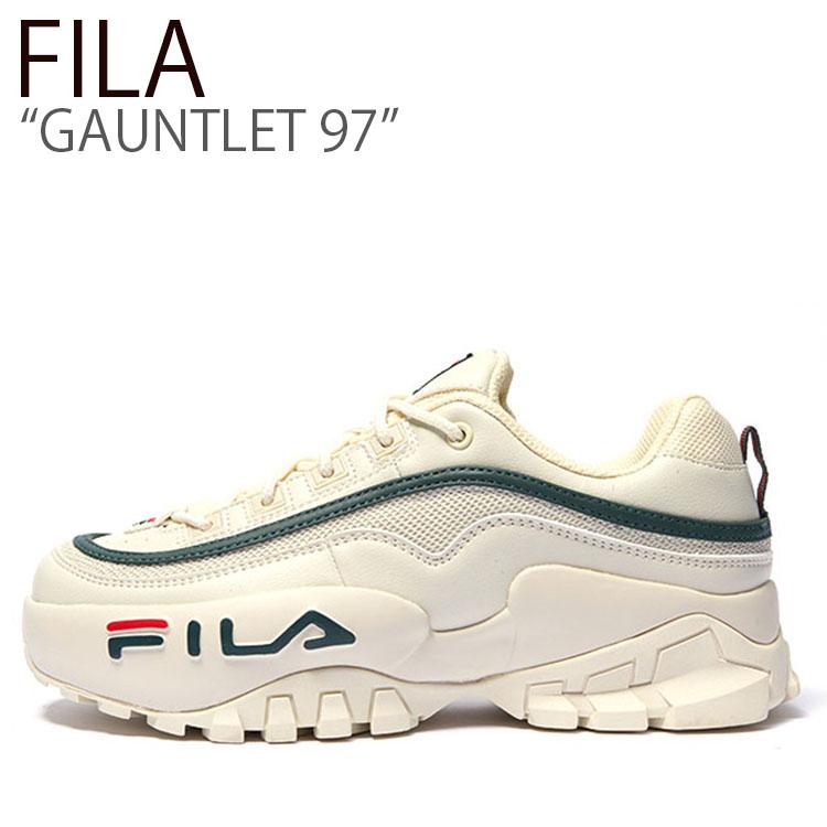 フィラ スニーカー FILA メンズ レディース GAUNTLET 97 ガントレット97 WHITE GREEN ホワイトグリーン FS1HTB3113X シューズ