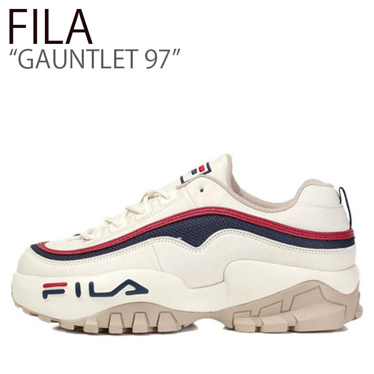 フィラ スニーカー FILA メンズ レディース GAUNTLET 97 ガントレット97 WHITE NAVY RED ホワイト ネイビーレッド FS1HTB3115X シューズ