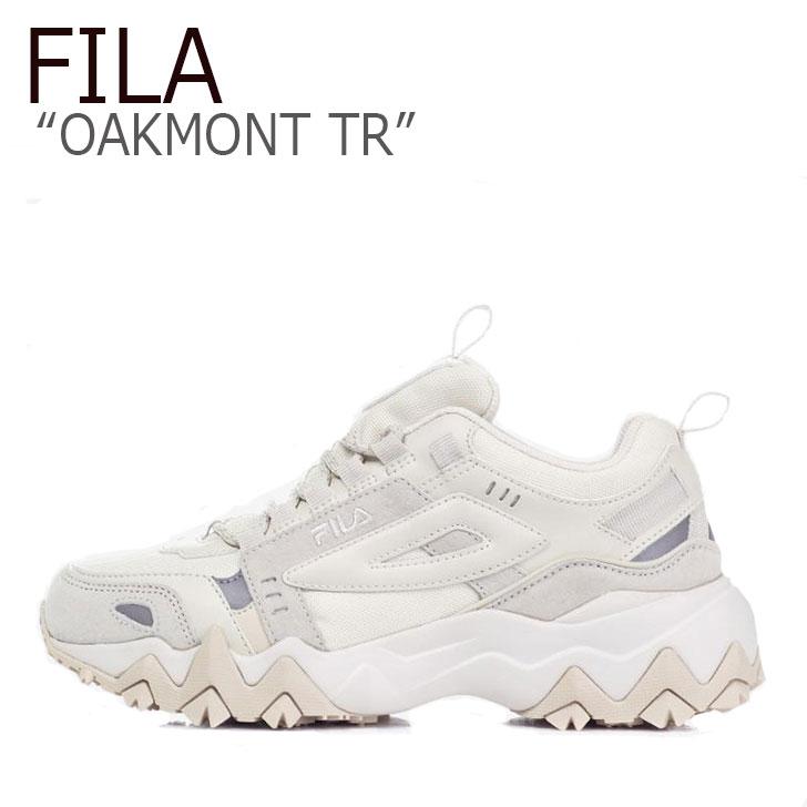 フィラ スニーカー FILA メンズ レディース OAKMONT TR オークモントTR BEIGE ベージュ FS1RIB3022X 1JM00801-924 FLFLAA1U17 シューズ