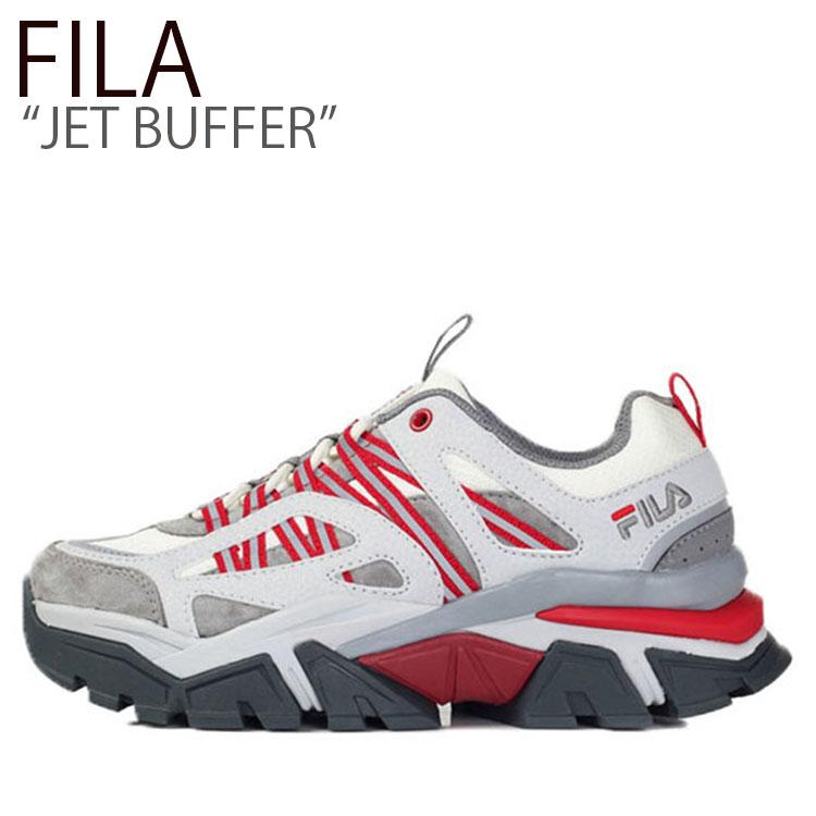 フィラ スニーカー FILA メンズ レディース JET BUFFER ジェット バッファ WHITE RED ホワイト レッド FS1RIB3093X シューズ