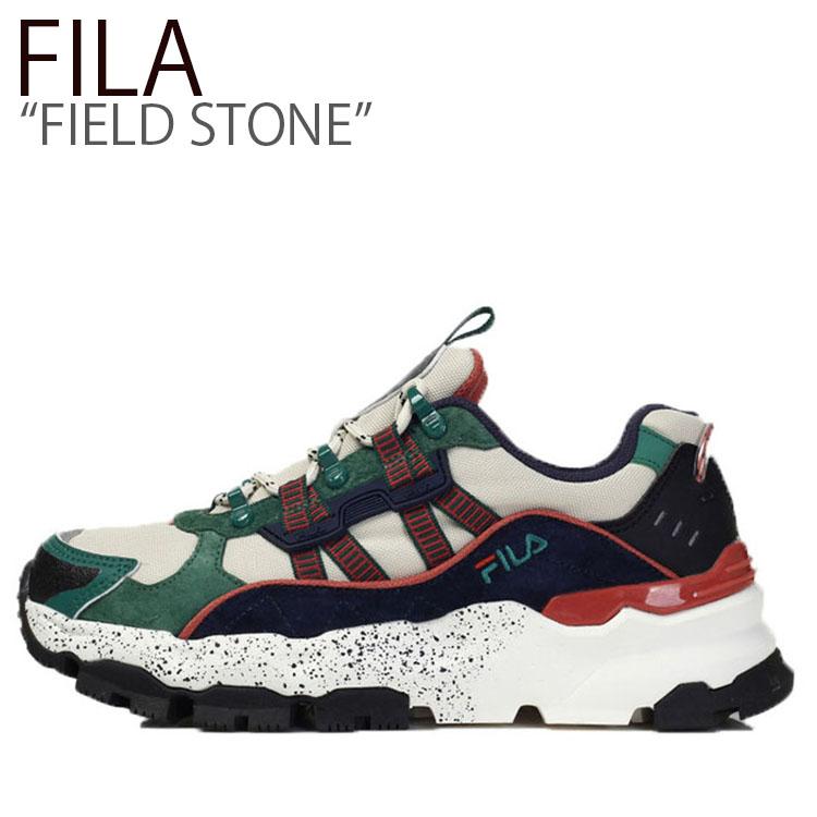 フィラ スニーカー FILA メンズ レディース FIELD STONE フィールドストーン GREEN グリーン FS1RIB3114X FLFLAS1U35 シューズ