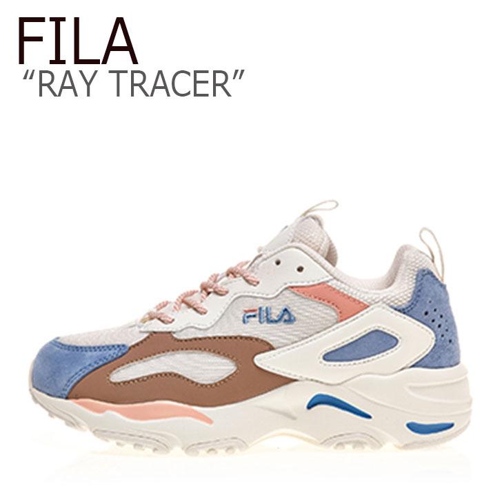 RAY TRACER トレイサー FILA フィラ スニーカー FS1RIB3212X レイ ピンク シューズ ベージュ BEIGE レディース PINK レイ