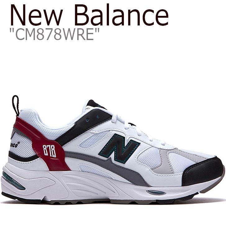 ニューバランス 878 スニーカー NEW BALANCE メンズ レディース new balance 878 ニューバランス878 WHITE ホワイト RED レッド CM878WRE シューズ 【中古】未使用品