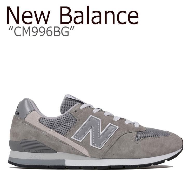 ニューバランス 996 スニーカー New Balance メンズ レディース CM 996 BG New Balance996 GRAY グレー CM996BG シューズ 【中古】未使用品