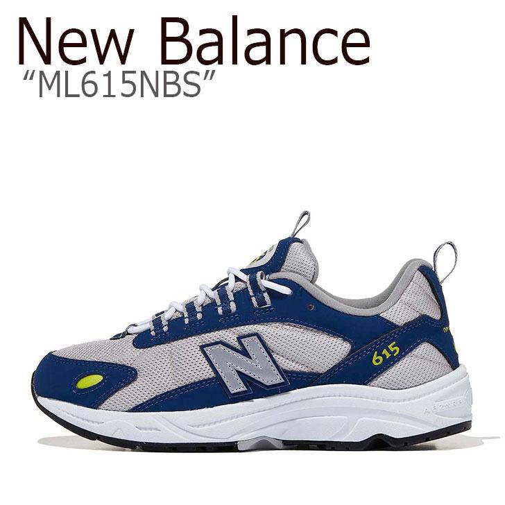 ニューバランス 615 スニーカー New Balance メンズ レディース ML 615 NBS New Balance615 GREY BLUE グレー ブルー ML615NBS シューズ 【中古】未使用品