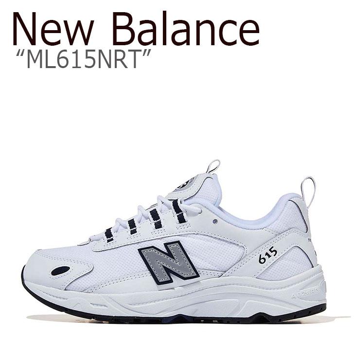 ニューバランス 615 スニーカー New Balance メンズ レディース ML 615 NRT New Balance615 WHITE ホワイト ML615NRT シューズ 【中古】未使用品