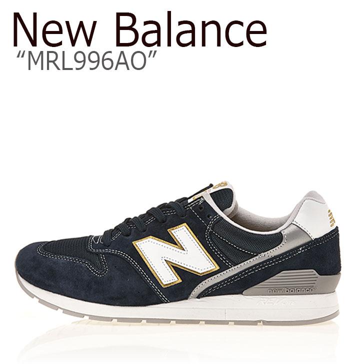 ニューバランス 996 スニーカー New Balance メンズ レディース MRL 996 AO New Balance996 NAVY ネイビー MRL996AO シューズ 【中古】未使用品