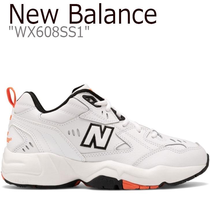 ニューバランス 608 スニーカー NEW BALANCE メンズ レディース new balance 608 ニューバランス608 WHITE ホワイト ORANGE オレンジ WX608SS1 シューズ 【中古】未使用品
