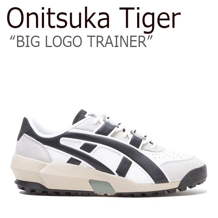 オニツカタイガー スニーカー Onitsuka Tiger メンズ レディース BIG LOGO TRAINER ビッグロゴ トレーナー WHITE BLACK ホワイト ブラック 1183A419‐101 シューズ