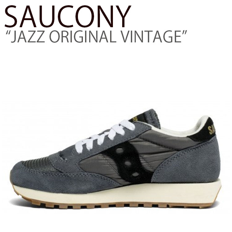 サッカニー スニーカー SAUCONY メンズ レディース JAZZ ORIGINAL VINTAGE ジャズオリジナルヴィンテージ GRAY BLACK グレー ブラック S60368-97 シューズ