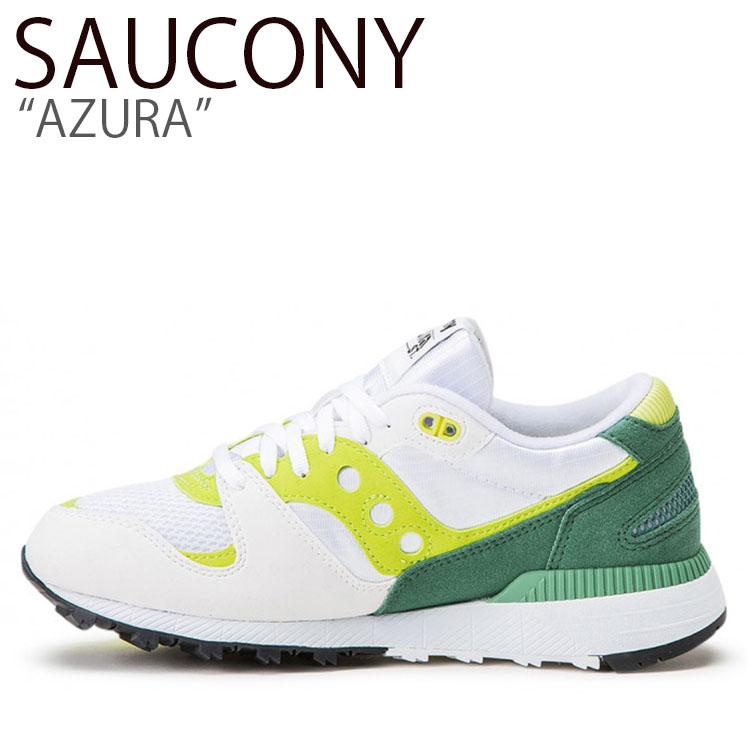 サッカニー スニーカー SAUCONY メンズ レディース AZURA アズーラ WHITE GREEN LIME ホワイト グリーン ライム S60437-18 シューズ
