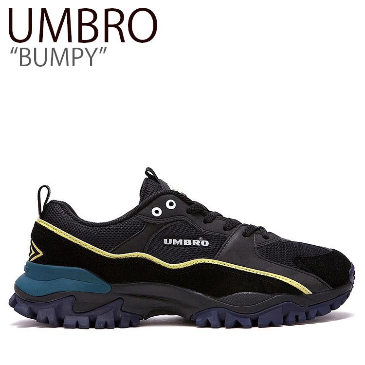 アンブロ スニーカー UMBRO メンズ レディース BUMPY バンピー ダッドシューズ BLACK ブラック FLUM9S1U03 シューズ