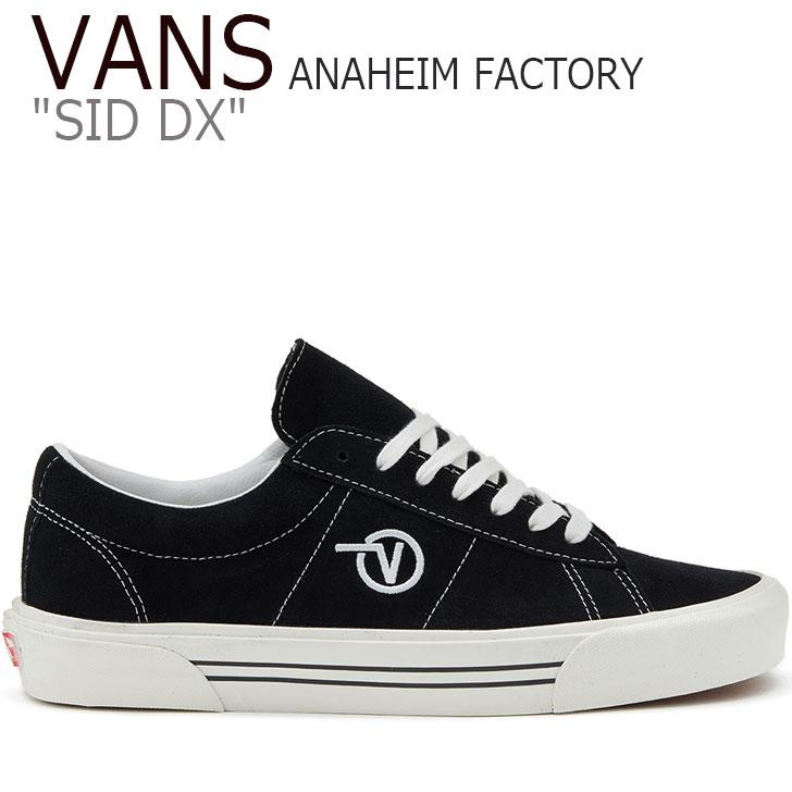 バンズ スニーカー VANS メンズ レディース FA19 ANAHEIM FACTORY SID DX アナハイム ファクトリー シド DX BLACK ブラック VN0A4BTXUL11 シューズ