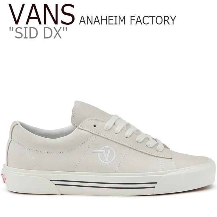 バンズ スニーカー VANS メンズ レディース FA19 ANAHEIM FACTORY SID DX アナハイム ファクトリー シド DX WHITE ホワイト VN0A4BTXUL41 シューズ