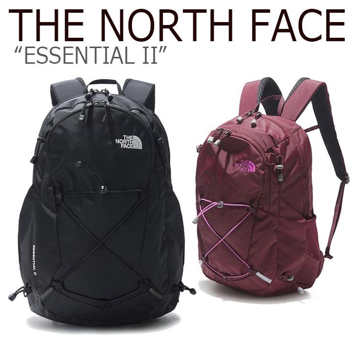 ノースフェイス バックパック THE NORTH FACE メンズ レディース ESSENTIAL II エッセンシャル II BLACK BURGANDY ブラック バーガンディー NM2SK52A/B バッグ 【中古】未使用品