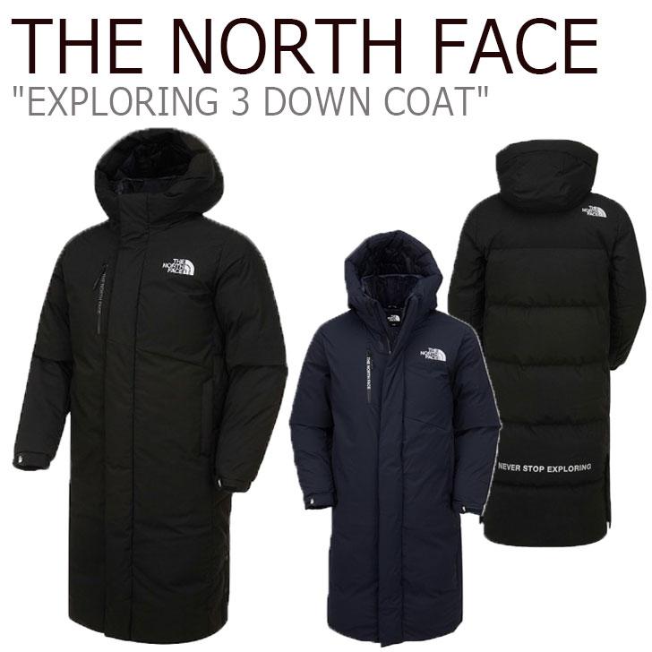 ノースフェイス ダウン THE NORTH FACE メンズ レディース EXPLORING 3 DOWN COAT エクスプローリング3 ダウンコート BLACK ブラック INK インク NC1DK54A/B ウェア 【中古】未使用品