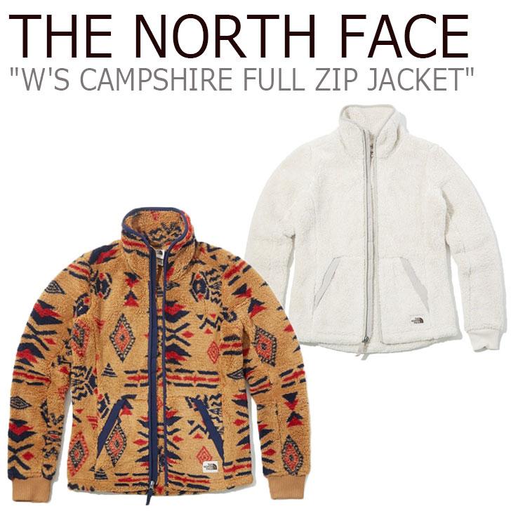 フリース ノースフェイス THE NORTH FACE レディース W'S CAMPSHIRE FULL ZIP JACKET キャンプシャイア フルジップ ジャケット 全2色 NJ4FK80A/C ウェア 【中古】未使用品