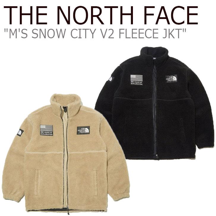 フリース ノースフェイス THE NORTH FACE メンズ M'S SNOW CITY V2 FLEECE JKT スノー シティ V2 フリースジャケット BEIGE ベージュ BLACK ブラック NN4FL02A/B ウェア 【中古】未使用品