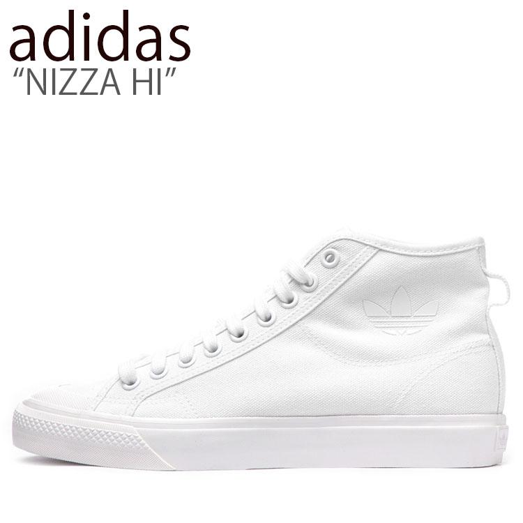 アディダス スニーカー adidas メンズ レディース NIZZA HI ニッツァ ハイ WHITE ホワイト B41643 シューズ 【中古】未使用品