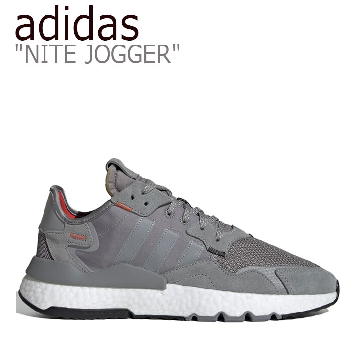 アディダス スニーカー adidas メンズ NITE JOGGER ナイトジョガー GRAY グレー EE5869 シューズ 【中古】未使用品
