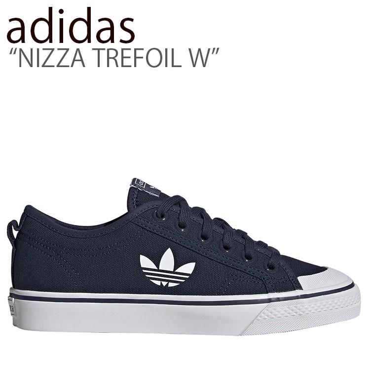 アディダス スニーカー adidas メンズ レディース NIZZA TREFOIL W ニッツァトレフォイル ウィメンズ NAVY WHITE ネイビー ホワイト EF2036 シューズ 【中古】未使用品