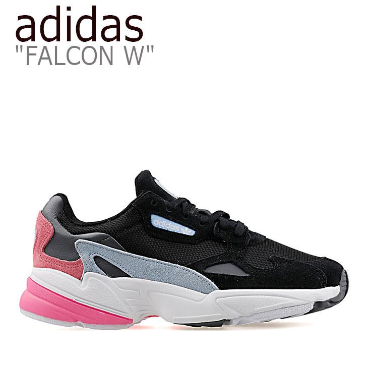 アディダス ファルコン スニーカー adidas メンズ レディース FALCON W ファルコン W ダッドシューズ BLACK PINK BLUE ブラック ピンク ブルー EG2864 シューズ 【中古】未使用品