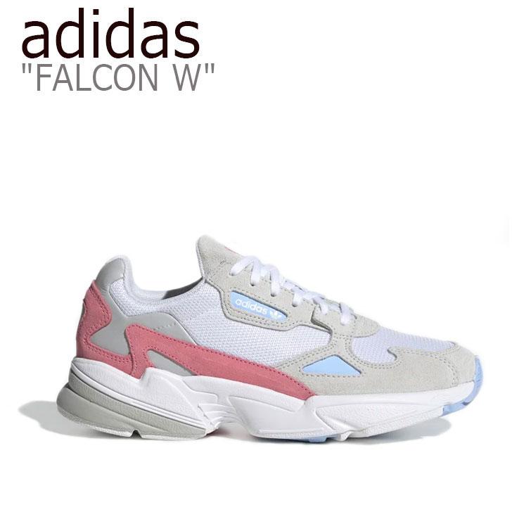 アディダス ファルコン スニーカー adidas メンズ レディース FALCON W ファルコン W ダッドシューズ WHITE PINK BLUE ホワイト ピンク ブルー EG2866 シューズ 【中古】未使用品