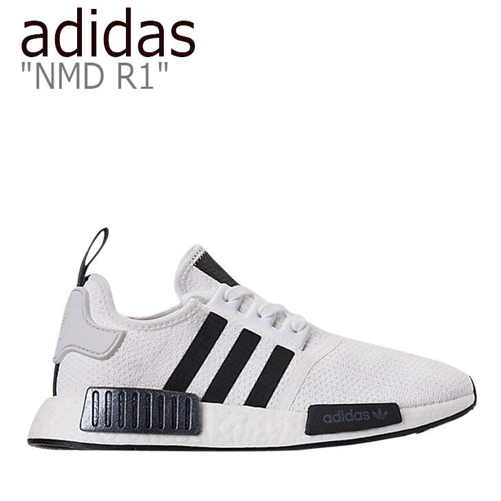 アディダス スニーカー adidas メンズ NMD R1 エヌエムディー R1 WHITE BLACK ホワイト ブラック EG7186 シューズ 【中古】未使用品