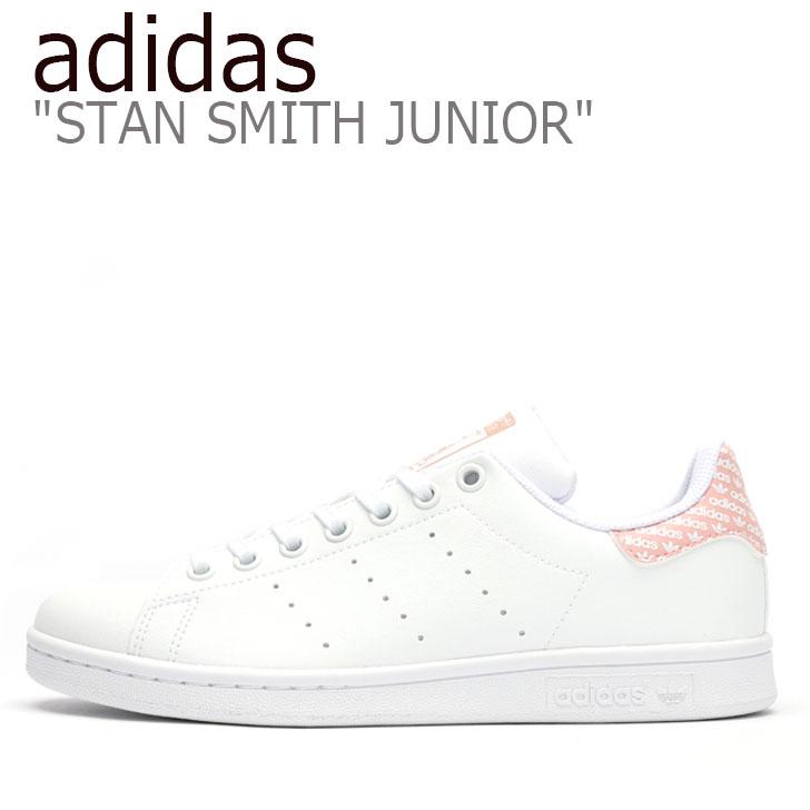 アディダス スニーカー adidas レディース STAN SMITH JUNIOR スタン スミス ジュニア PINK ピンク WHITE ホワイト EG7433 シューズ 【中古】未使用品