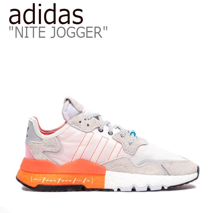 アディダス スニーカー adidas メンズ NITE JOGGER ナイトジョガー WHITE ORANGE ホワイト オレンジ EH0249 シューズ 【中古】未使用品