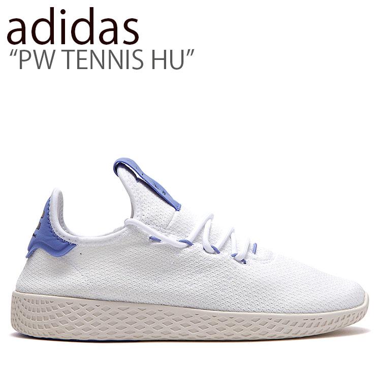 アディダス スニーカー adidas メンズ レディース PW TENNIS HU ファレル ウィリアムス テニス ヒューマン WHITE BLUE ホワイト ブルー FLAD9A2U20 BD7521 シューズ 【中古】未使用品