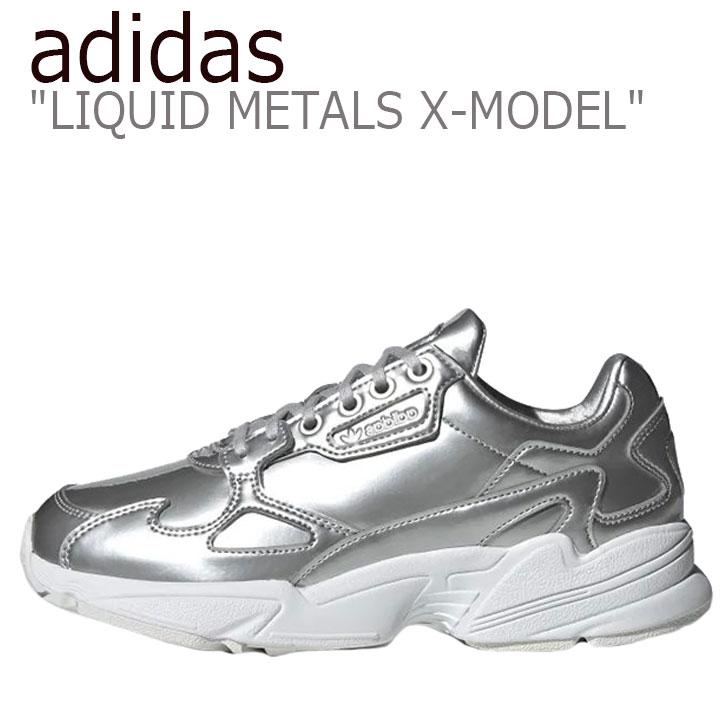 アディダス スニーカー adidas レディース FALCON LIQUID METALS X-MODEL ファルコン リキッド メタル X-モデル SILVER シルバー FV4317 シューズ 【中古】未使用品