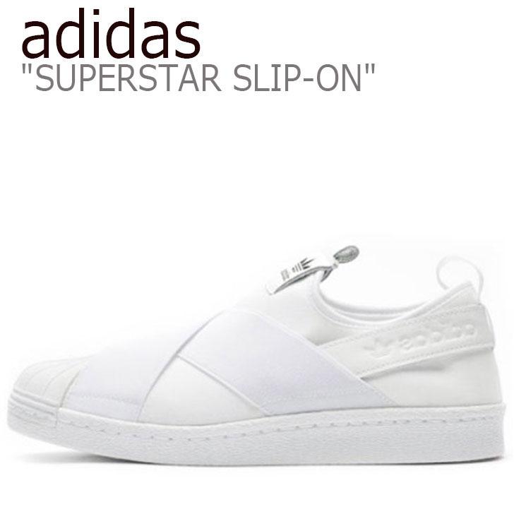 アディダス スニーカー adidas メンズ レディース SUPERSTAR SLIP-ON スーパースター スリッポン WHITE ホワイト S81338 シューズ 【中古】未使用品