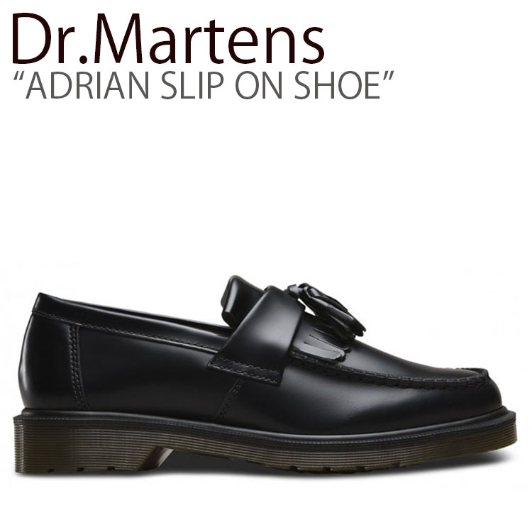 ドクターマーチン スニーカー Dr.Martens メンズ レディース ADRIAN SLIP ON SHOE エイドリアン スリッポンシュー BLACK ブラック 14573001 シューズ 【中古】未使用品