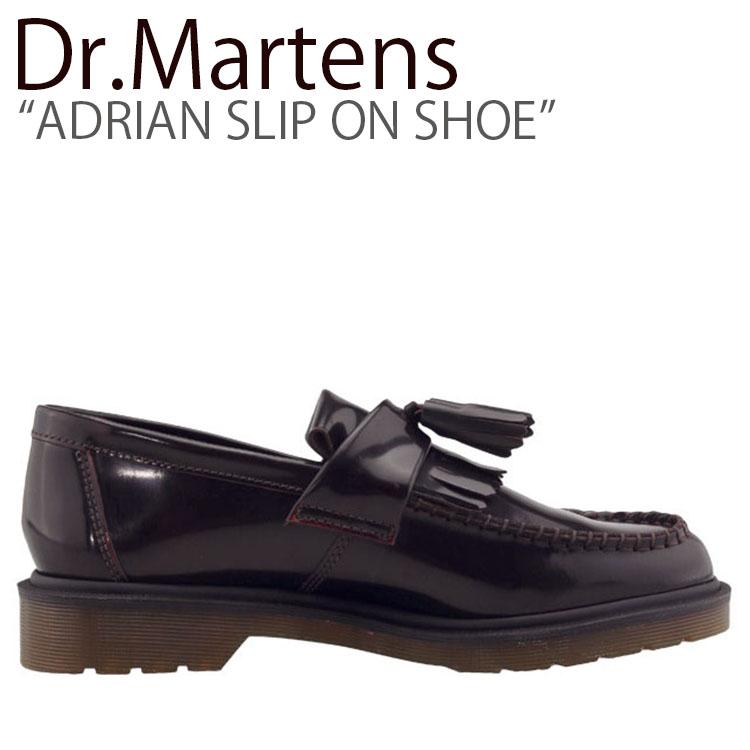 エイドリアン レディース 14573601 【中古】未使用品 シューズ スリッポンシュー バーガンディ スニーカー Dr.Martens ドクターマーチン ADRIAN メンズ SLIP SHOE ON BURGUNDY