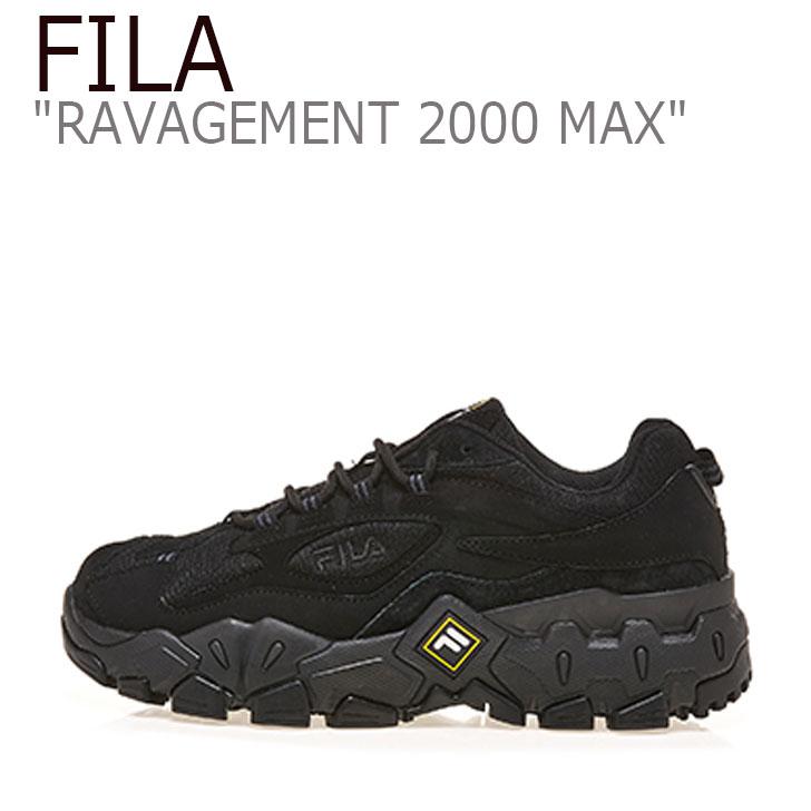 フィラ スニーカー FILA メンズ レディース RAVAGEMENT 2000 MAX ラビージメント 2000 マックス BLACK ブラック 1JM00798 001 シューズ