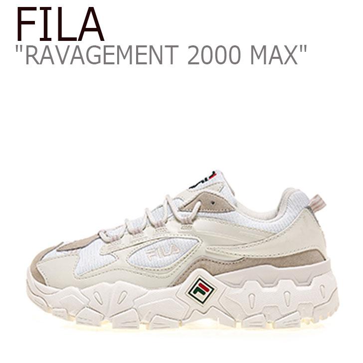 フィラ スニーカー FILA メンズ レディース RAVAGEMENT 2000 MAX ラビージメント 2000 マックス MULTI OFFWHITE オフホワイト 1JM00798 101 シューズ