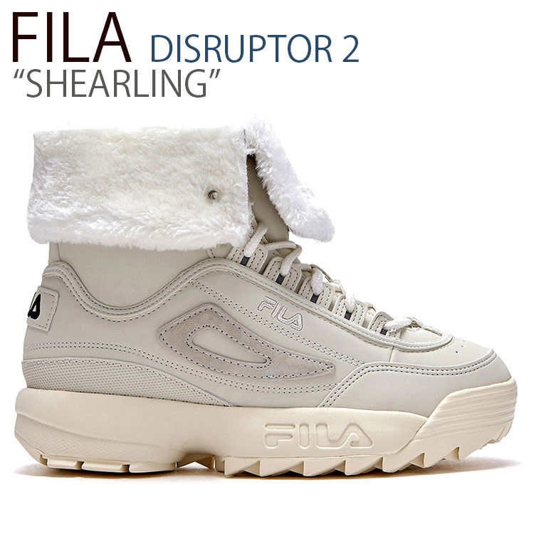 フィラ ディスラプター スニーカー FILA レディース DISRUPTOR 2 SHEARLING ディスラプター2 シアリング IVORY アイボリー FLFLAS1U36 シューズ