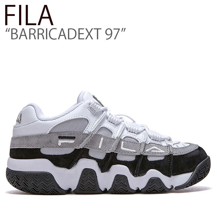 フィラ スニーカー FILA メンズ レディース BARRICADEXT 97 バリケードXT 97 WHITE BLACK ホワイト ブラック FLFLAS1U44 シューズ
