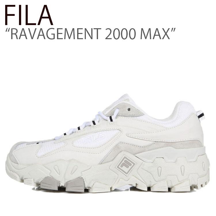 フィラ スニーカー FILA メンズ レディース RAVAGEMENT 2000 MAX ラビージメント 2000 マックス OFFWHITE オフホワイト FS1HTB3151X シューズ