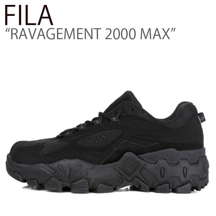 フィラ スニーカー FILA メンズ レディース RAVAGEMENT 2000 MAX ラビージメント 2000 マックス BLACK ブラック FS1HTB3153X シューズ