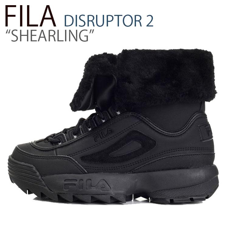 フィラ ディスラプター スニーカー FILA レディース DISRUPTOR 2 SHEARLING ディスラプター2 シアリング BLACK ブラック FS1HTB3412X シューズ
